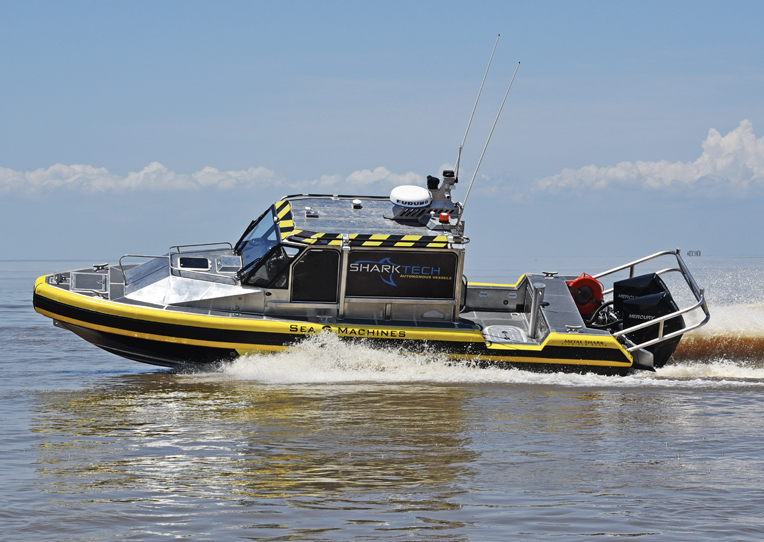 September 24th, 2019: Metal Shark and Sea Machines Launch New Sharktech Autonomous Vessel