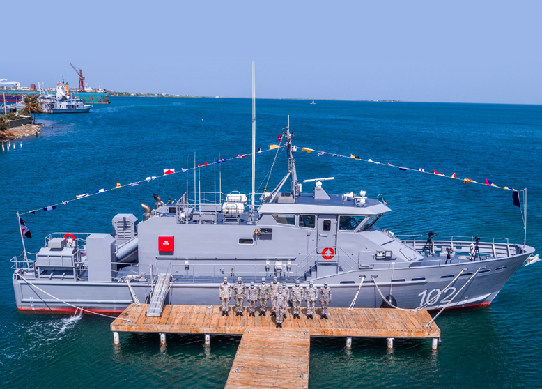 August 21st, 2020: Metal Shark Delivers 85-Foot Patrol Boat to the Dominican Republic