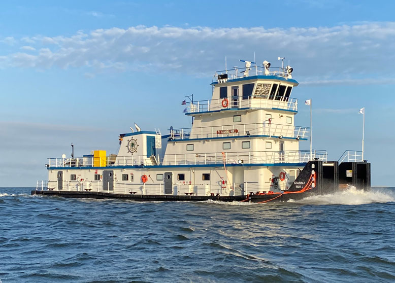 June 15th, 2021: Metal Shark Alabama Delivers Third Inland Towboat to Florida Marine Transporters, Inc.